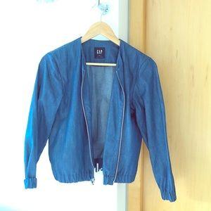 Denim bomber style jacket